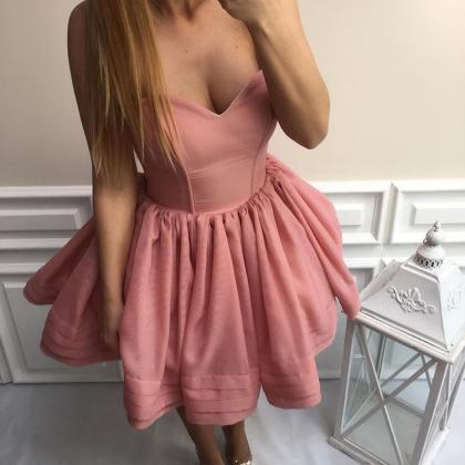 Dusty Rose Sweetheart Cocktail Dres..