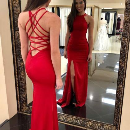 Fitted Halter Formal Evening Gown R..