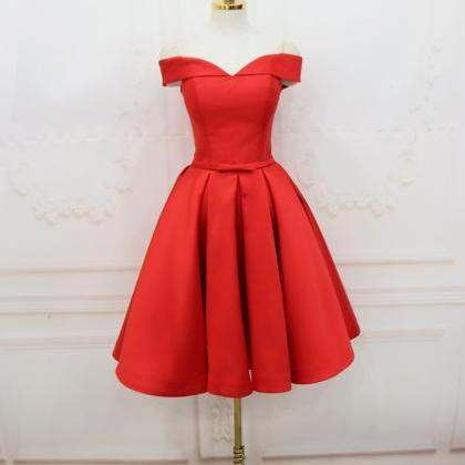Short Red Off The Shoulder Homecomi..