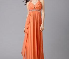 Orange Chiffon Empir..