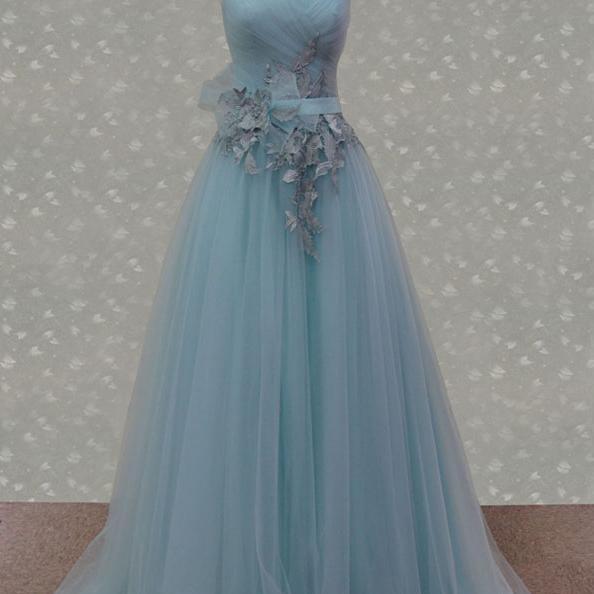 2015 Sweetheart A Line Formal Prom Gown With Sweep Train